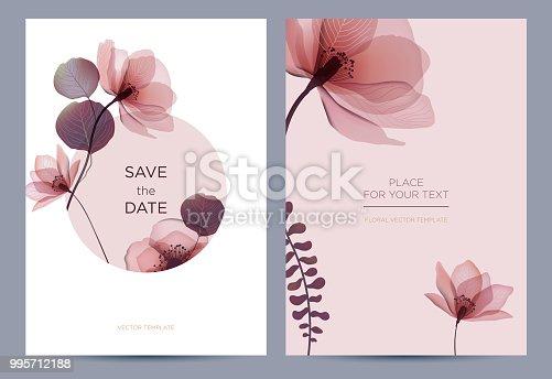 istock Wedding invitation in the botanical style. 995712188