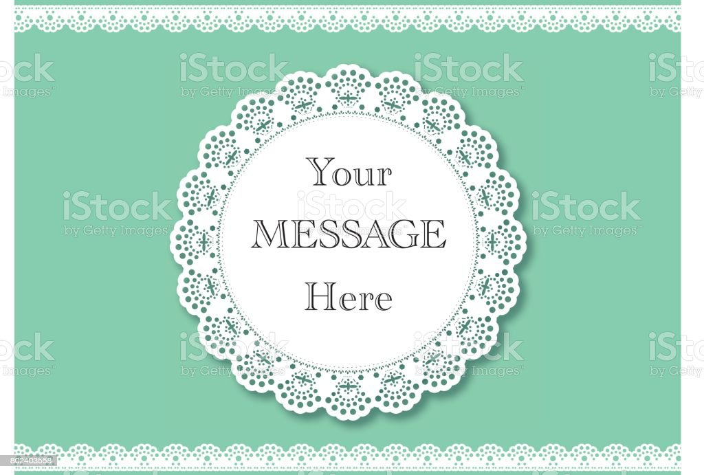 Wedding invitation lace background with a place for text vintage wedding invitation lace background with a place for text vintage lace vector design royalty stopboris Images