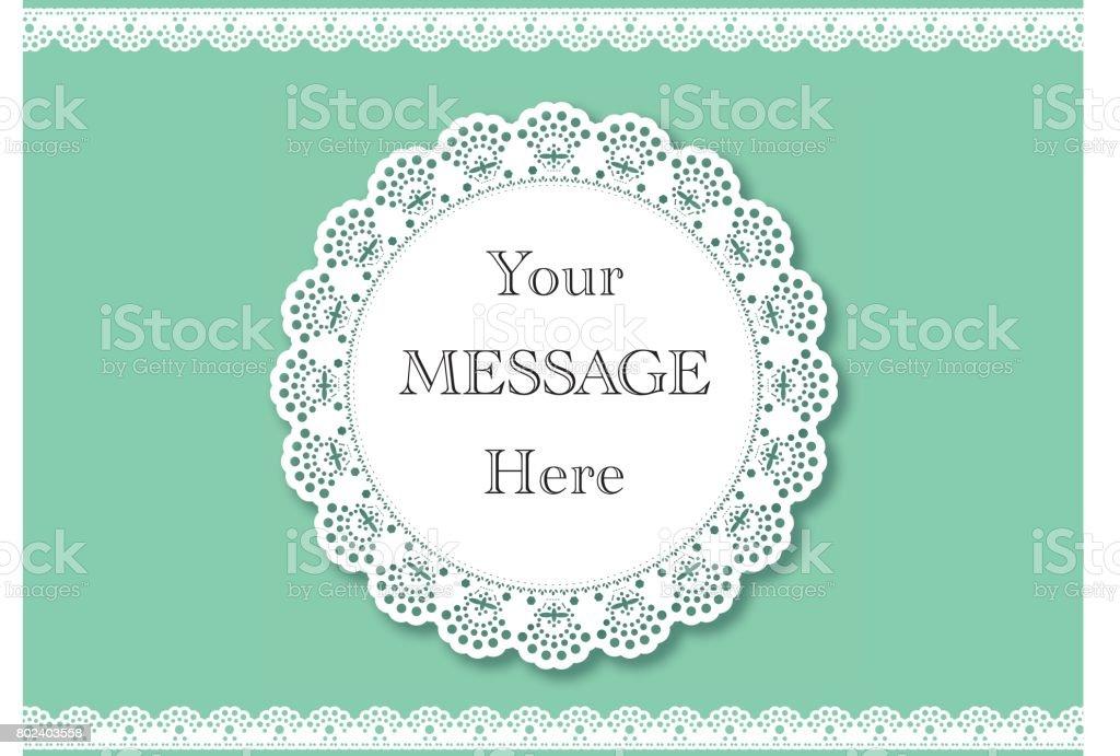 結婚式の招待状。レースの背景本文の場所に。ヴィンテージ レース ベクター デザイン ベクターアートイラスト