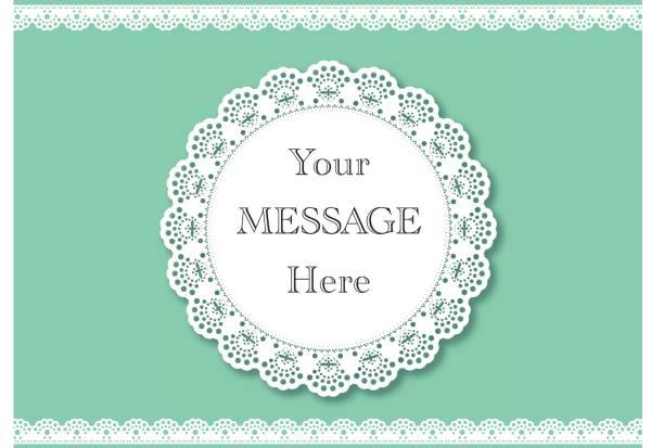 ilustrações, clipart, desenhos animados e ícones de convite de casamento. fundo de renda com um lugar para o texto. desenho de vetor de rendas vintage - molduras de certificados e premiações