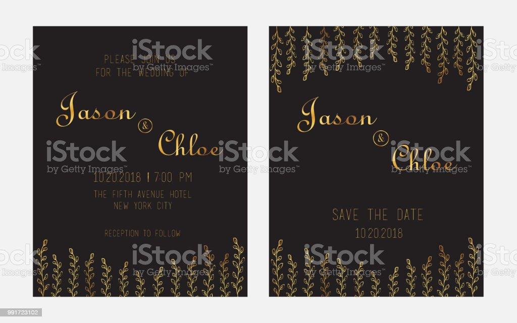 Wedding Invitation Letter Template Stock Illustration