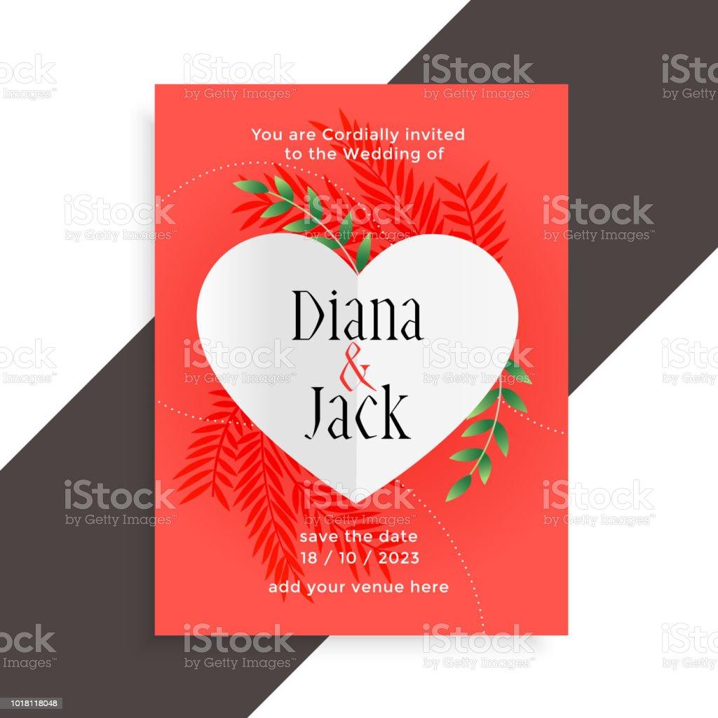 Wedding Invitation Love Card Design Template Stock Vector Art & More ...