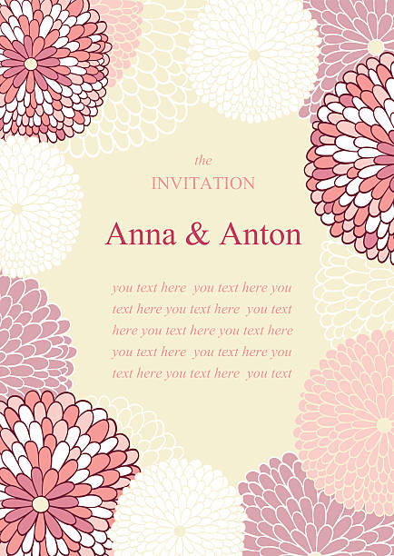 wedding invitation on the theme of flowers - bachelorette party stock illustrations, clip art, cartoons, & icons