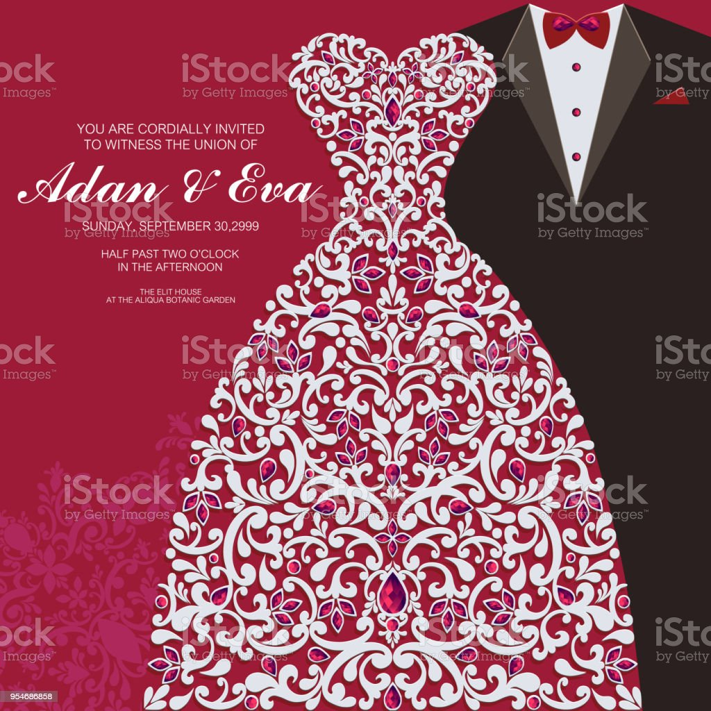 Wedding Invitation Or Card With Abstract Background Islam Arabic ...