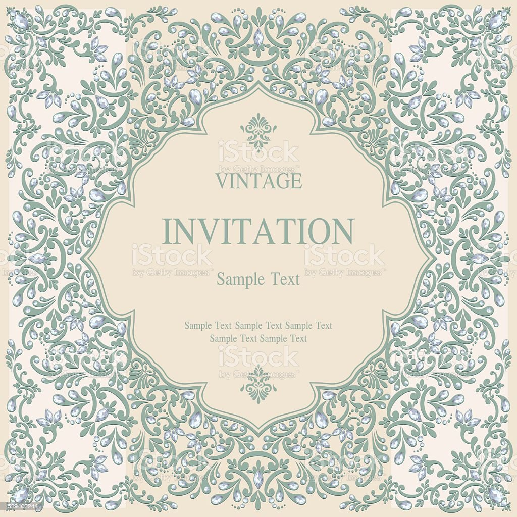 Wedding Invitation Or Card With Abstract Background Stock Illustration Download Image Now