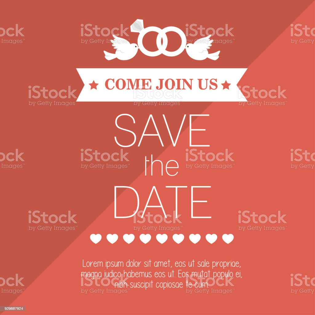 Wedding Invitation Save The Date Design Graphic Stock Vector Art ...