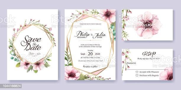 Wedding invitation save the date thank you rsvp card design template vector id1044166824?b=1&k=6&m=1044166824&s=612x612&h=o6wmq7oqadn5eav9lfpfrhlxgggi wxvoha3cvxavzs=