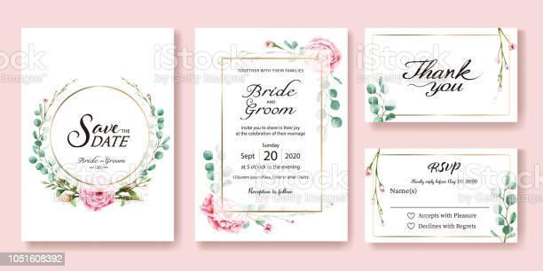 Wedding invitation save the date thank you rsvp card design template vector id1051608392?b=1&k=6&m=1051608392&s=612x612&h=ciaezzqhtspddvvopmezjmpbpb5h8kbhjtwyqtnozqi=