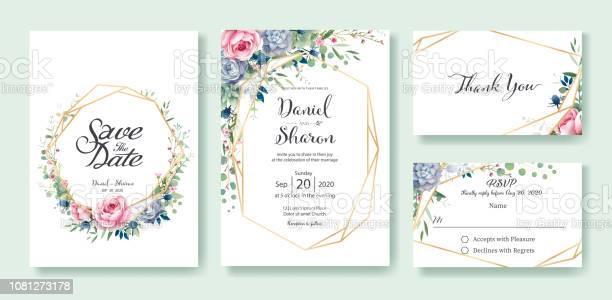 Wedding invitation save the date thank you rsvp card design template vector id1081273178?b=1&k=6&m=1081273178&s=612x612&h=ubh1jcto5wkqhjumyrwpgk3oudtjroi czgkqmdazsa=