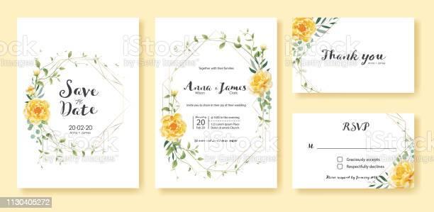 Wedding invitation save the date thank you rsvp card design template vector id1130405272?b=1&k=6&m=1130405272&s=612x612&h=7eb4zspdbcrwhcuyhvriec8dyqt1ihibzu6jkrmwsoc=
