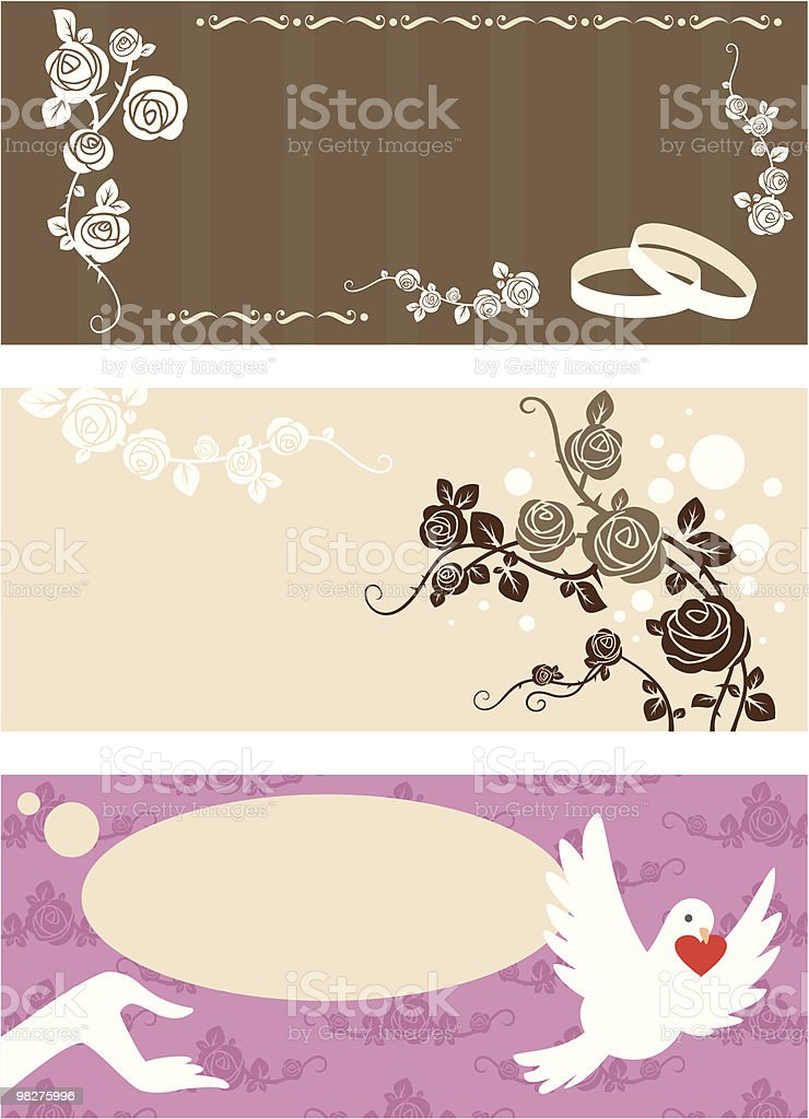 Wedding invitation set royalty-free wedding invitation set stock vector art & more images of anniversary