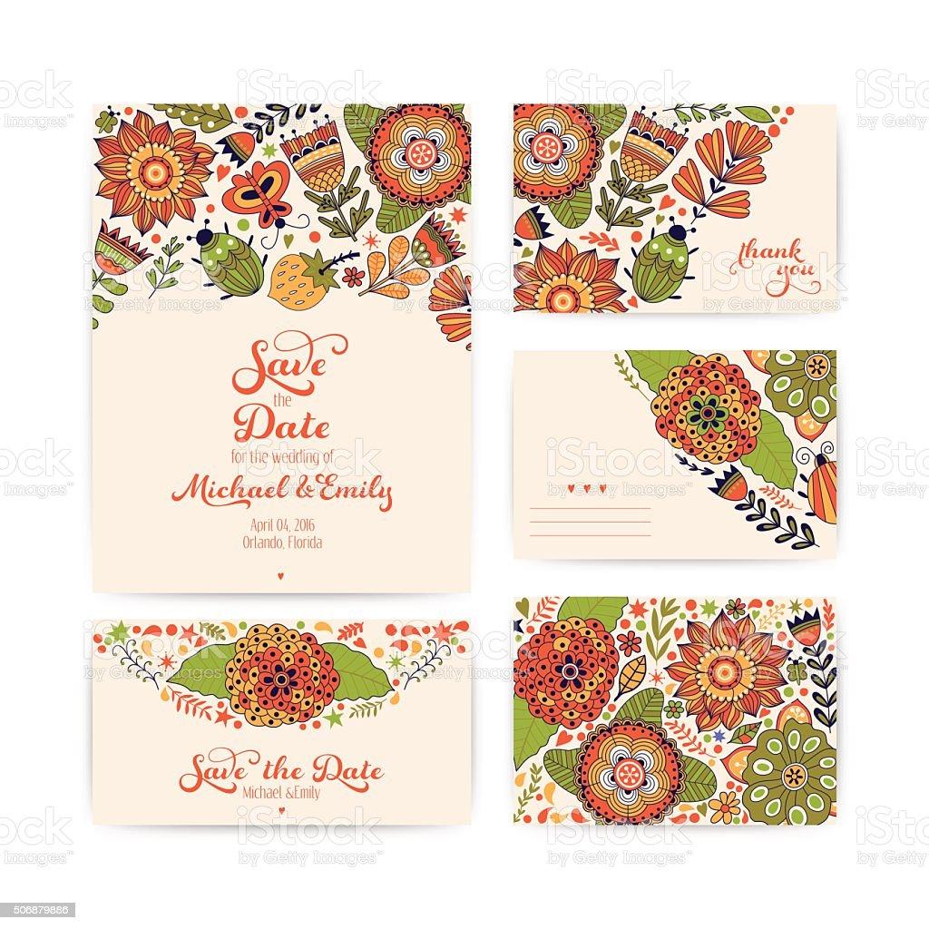 Hochzeit Einladung Vorlage, Einladung, Briefumschlag, Vielen Dank Karte  Lizenzfreies Hochzeit Einladung Vorlage