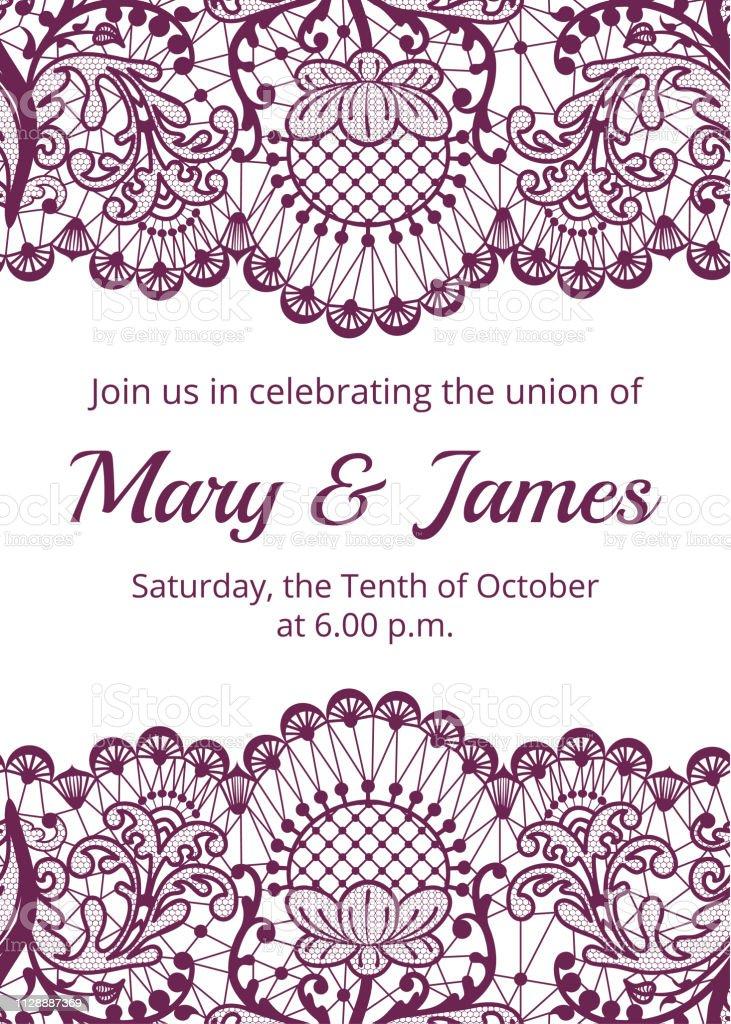 Wedding invitation template векторная иллюстрация