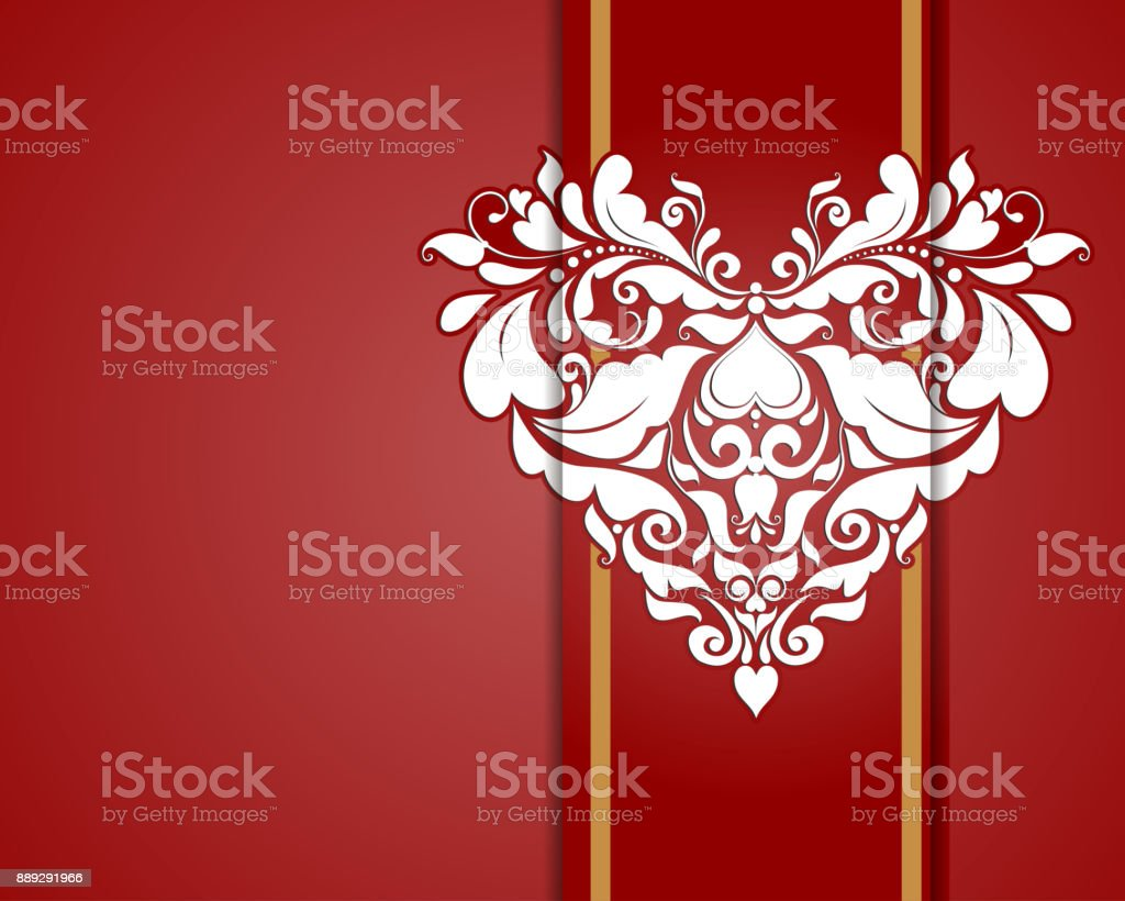 Wedding Invitation Template vector art illustration