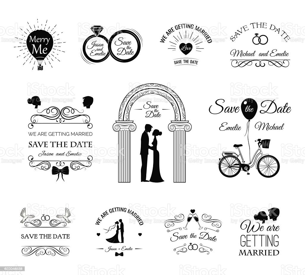 Wedding Invitation Template Vintage Design Elements ...