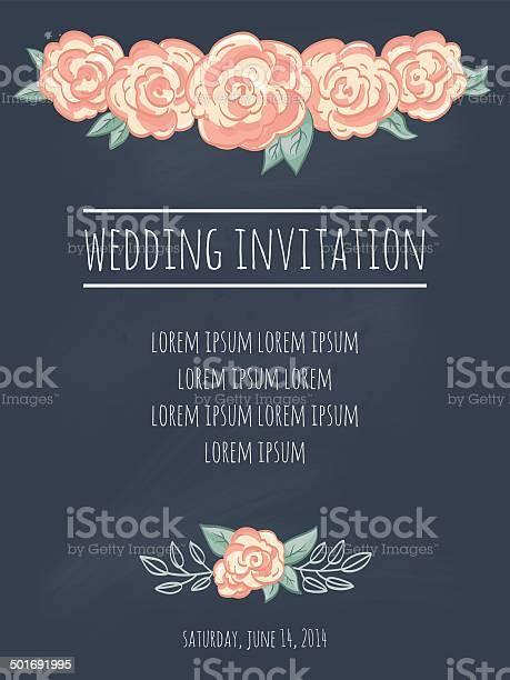 Wedding invitation template with roses on blackboard vector id501691995?b=1&k=6&m=501691995&s=612x612&h=hisbdbutdlxq9di443qoshmb2d q384rbxkvo4u4mri=