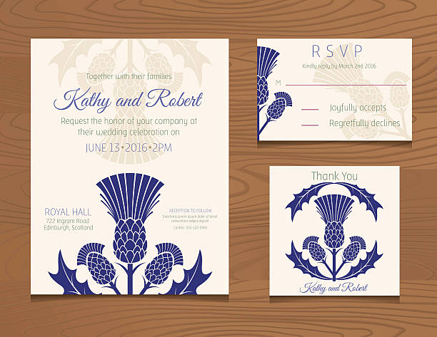 Wedding Invites Scotland: Best Scottish Thistle Illustrations, Royalty-Free Vector