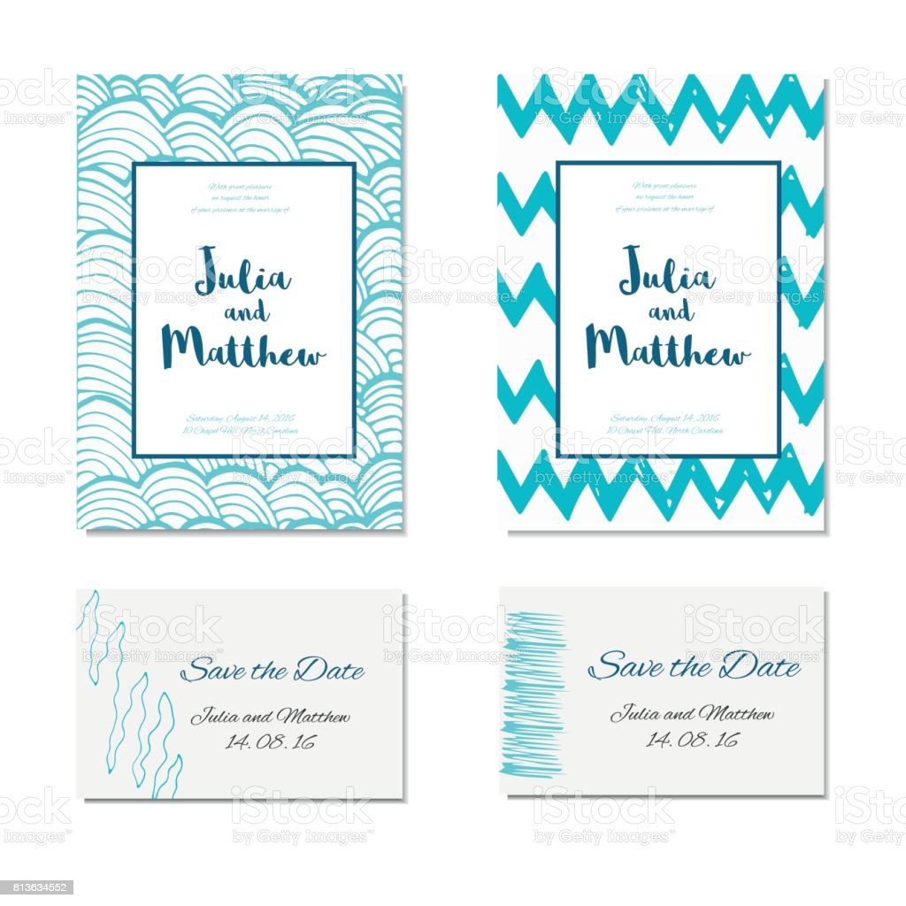 Wedding Invitation Thank You Save The Date Baby Shower Rsvp Stock