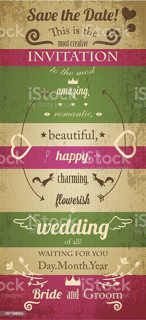 Wedding invitation royalty-free stock vector art