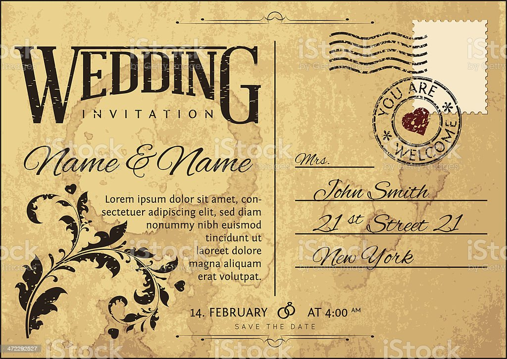 Wedding invitation royalty-free stock vector art