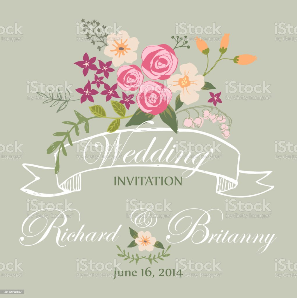 Wedding Invitation royalty-free wedding invitation stock vector art & more images of backgrounds