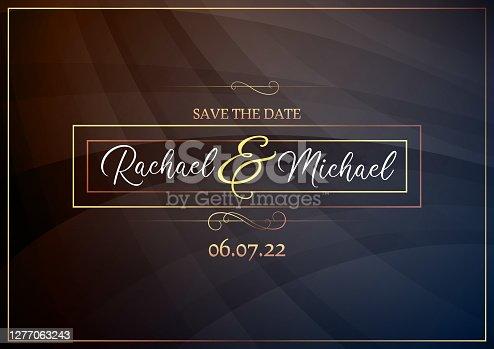 istock Wedding invitation vector illustration 1277063243