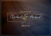 Black and gold elegant wedding invite vector illustration
