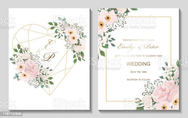 Wedding invitation with flowers peony and leaves watercolor isolated vector id1167132635?b=1&k=6&m=1167132635&s=612x612&h=rrdqiu8t6wus6i156astwecy2qyujuidq6fzapkfrdq=