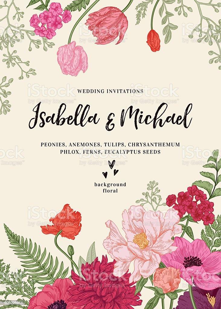 結婚式の招待状の花 アネモネのベクターアート素材や画像を多数ご用意