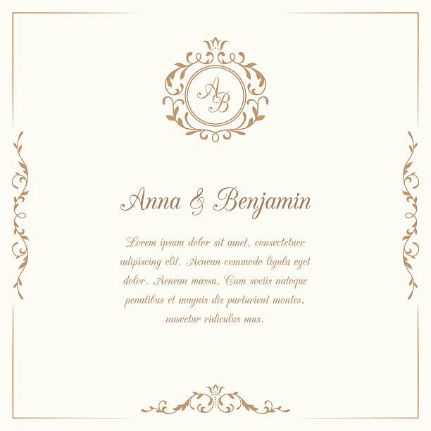 結婚式の招待状にモノグラム - 結婚式点のイラスト素材/クリップアート素材/マンガ素材/アイコン素材