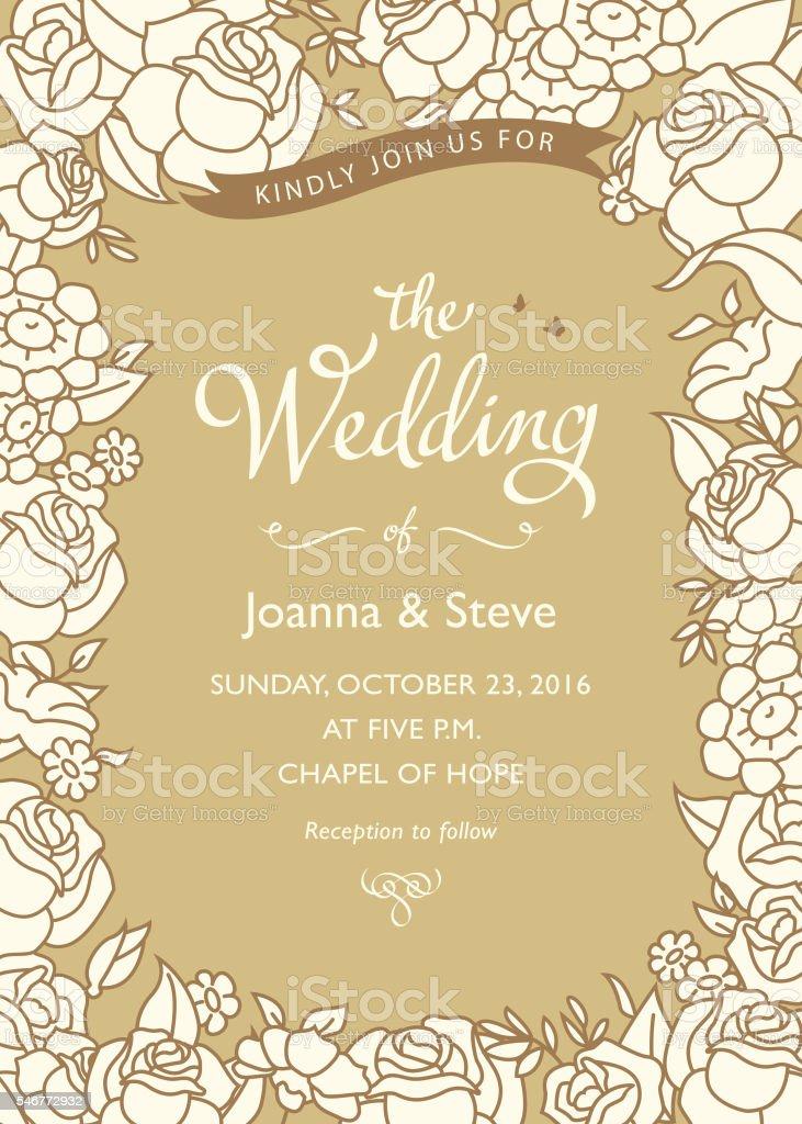 Hochzeitseinladungen Stock Vektor Art und mehr Bilder von Ast ...