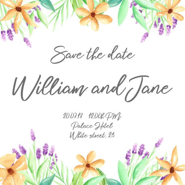 Spanish Style Wedding Invitations Illustrations Royalty Free