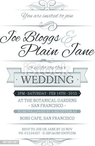 istock Wedding Invite 481981067