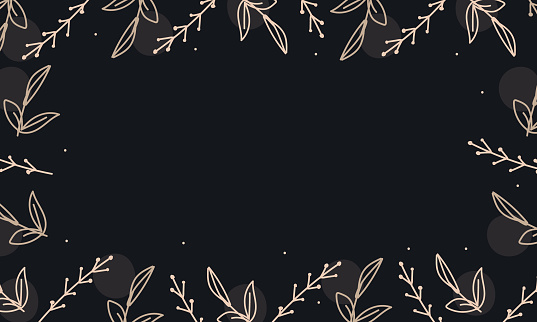 wedding leaves save the date vector background