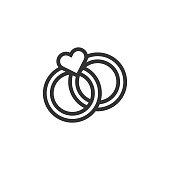 istock Wedding Line Icon 1294998047