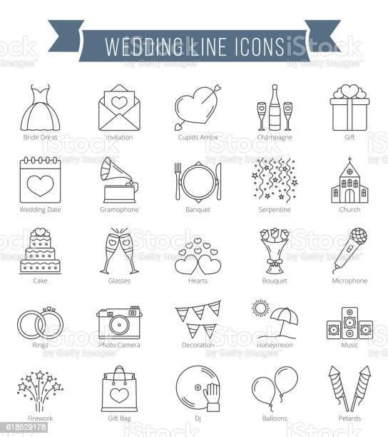Wedding line icons vector id618529178?b=1&k=6&m=618529178&s=612x612&h=lebn5skgn67of dhr0gg19t666esxqfvtih4vfvtqew=