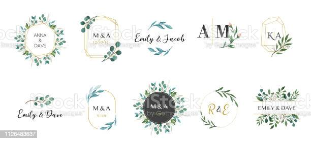 Wedding logos hand drawn elegant delicate monogram collection vector id1126483637?b=1&k=6&m=1126483637&s=612x612&h=m zuttve d9y kobthzhusop4e pflivaurwn6bdsoa=