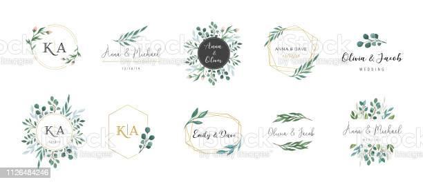 Wedding logos hand drawn elegant delicate monogram collection vector id1126484246?b=1&k=6&m=1126484246&s=612x612&h=lse sidhc shli9vfu5ujxhuwuhox7f gnlmf jlspy=