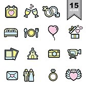 Wedding line icons set.Illustration eps 10