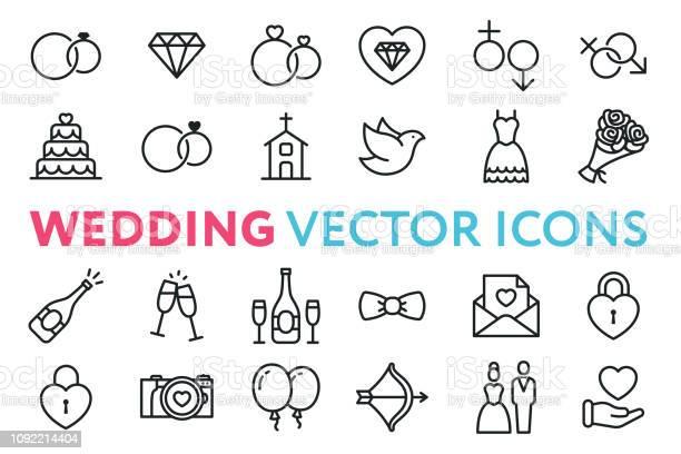 Wedding marriage engagement bridal flat line vector icon set day vector id1092214404?b=1&k=6&m=1092214404&s=612x612&h=gcob53xounpjspqmr4mktn4tjk5gl3i3lf2mvrxplhq=