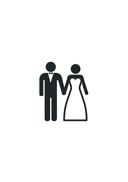 Wedding Married couple Icon. Bride and Groom. Wedding Married couple Icon. Bride and Groom bridegroom stock illustrations
