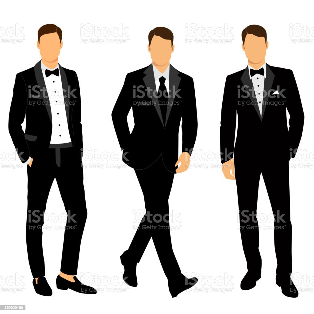wedding mens suit and tuxedo collection stock vector art & more