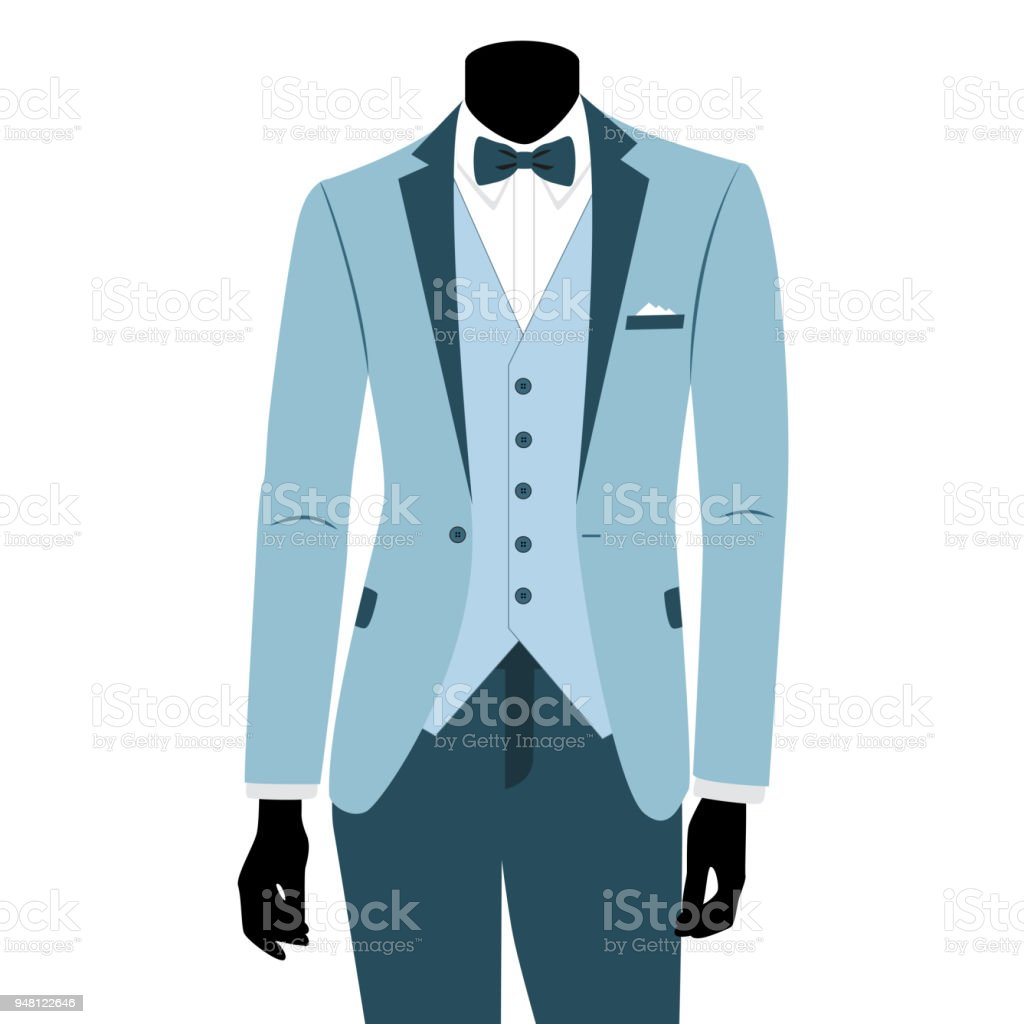 Wedding Mens Suit And Tuxedo Stock Vector Art & More Images of Adult ...