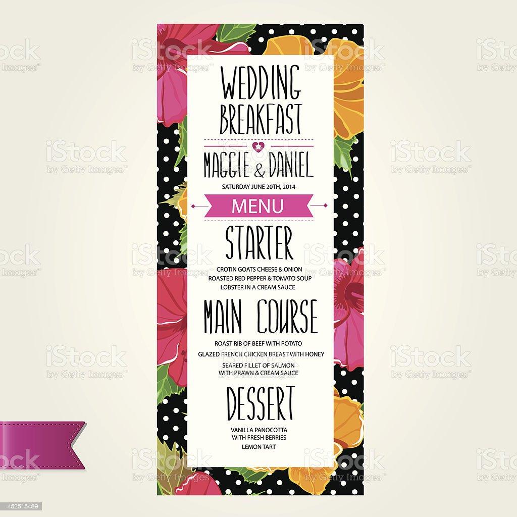 wedding menu template design stock vector art 452515489 | istock