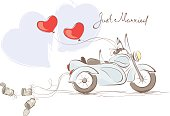 Wedding motorcycle with sidecar