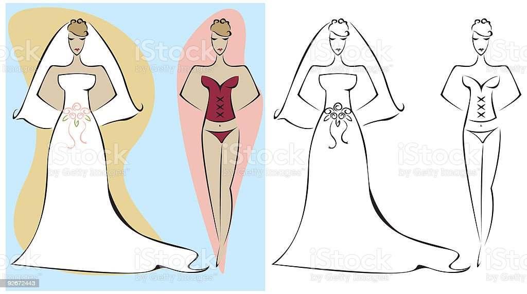 Wedding Night royalty-free stock vector art