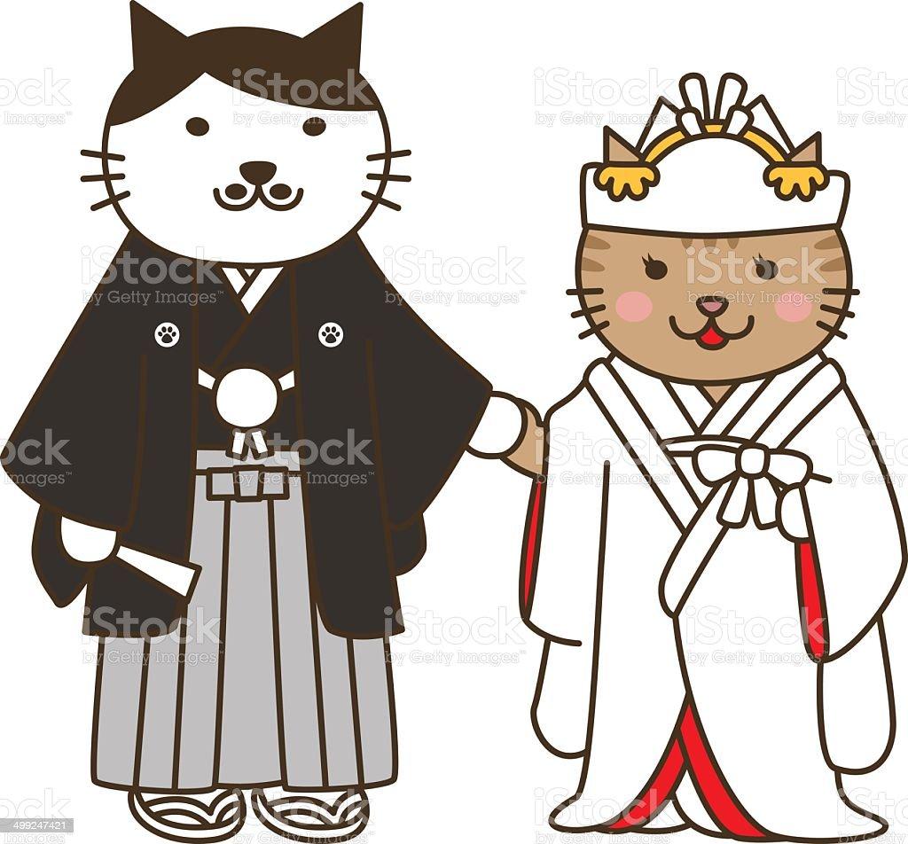 ウェディングの猫猫の結婚式 のイラスト素材 499247421 | istock