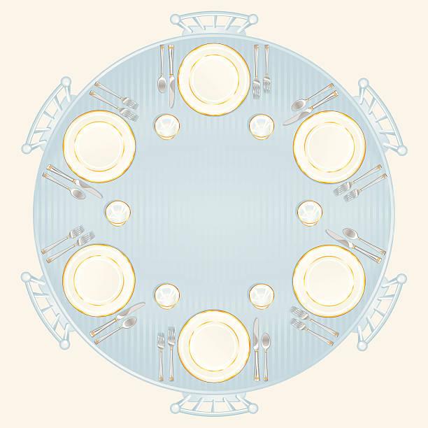 stockillustraties, clipart, cartoons en iconen met wedding or formal table setting - breakfast table
