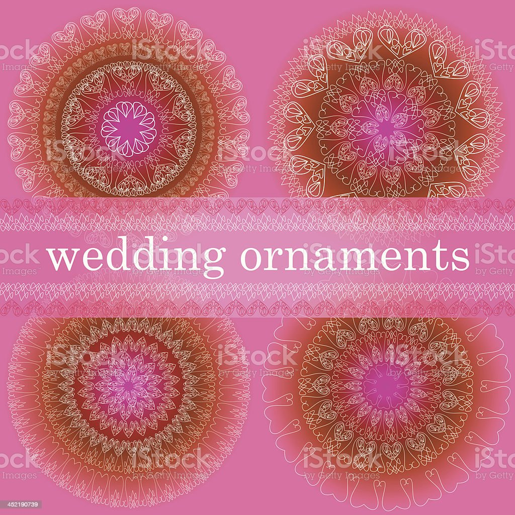 Wedding ornaments set royalty-free stock vector art