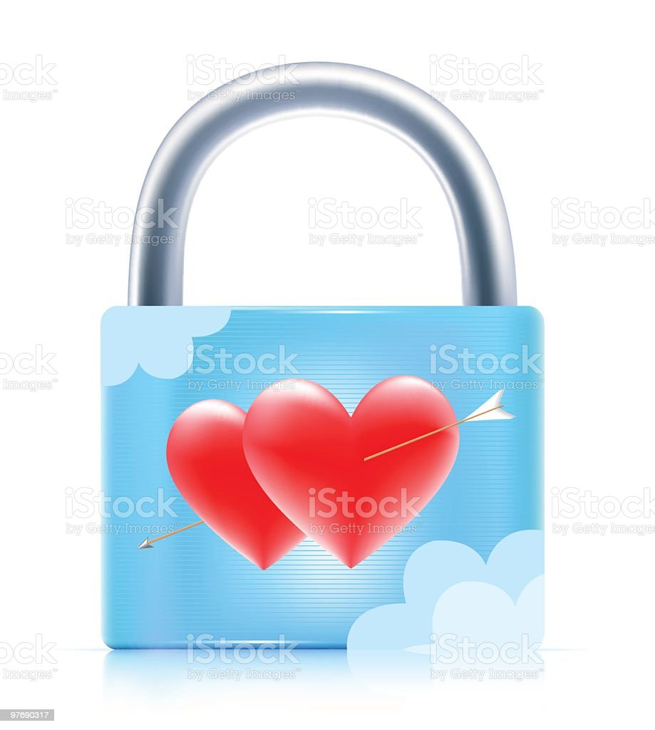 Wedding Padlock royalty-free stock vector art